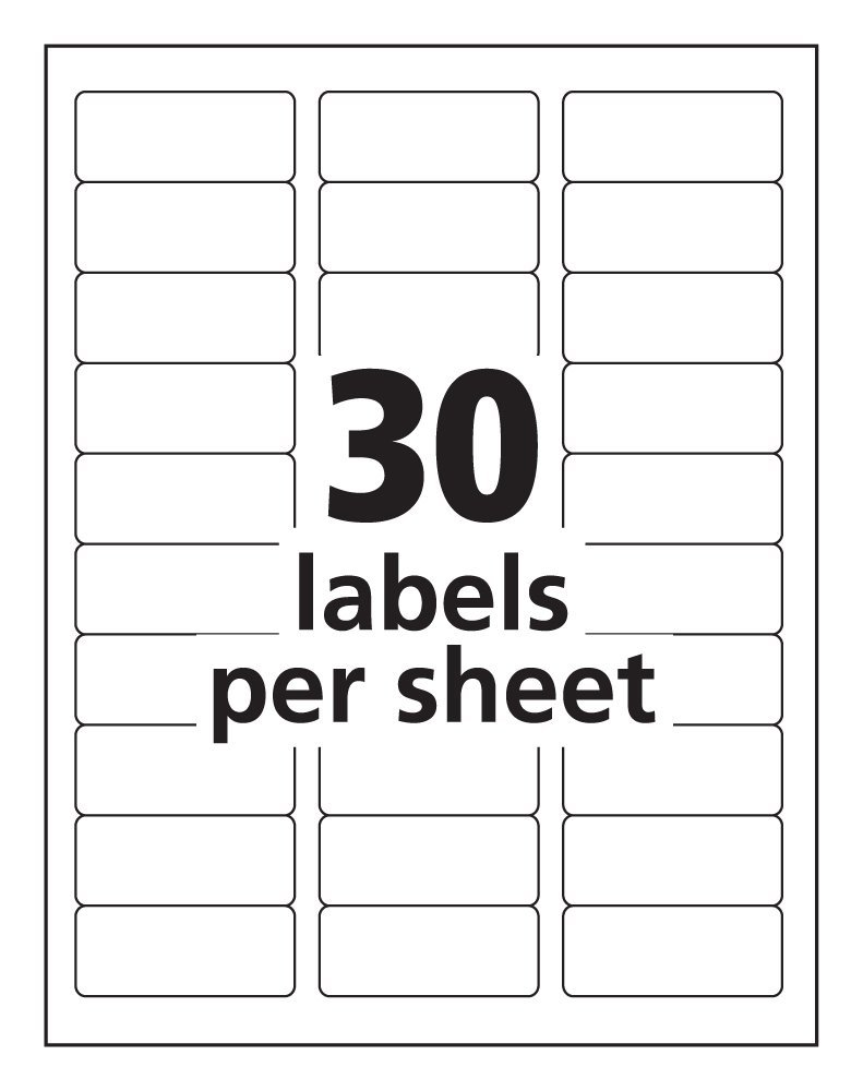 Pro Office 1 x 262 Premium AddressShipping Labels – Shipping Label Template Free