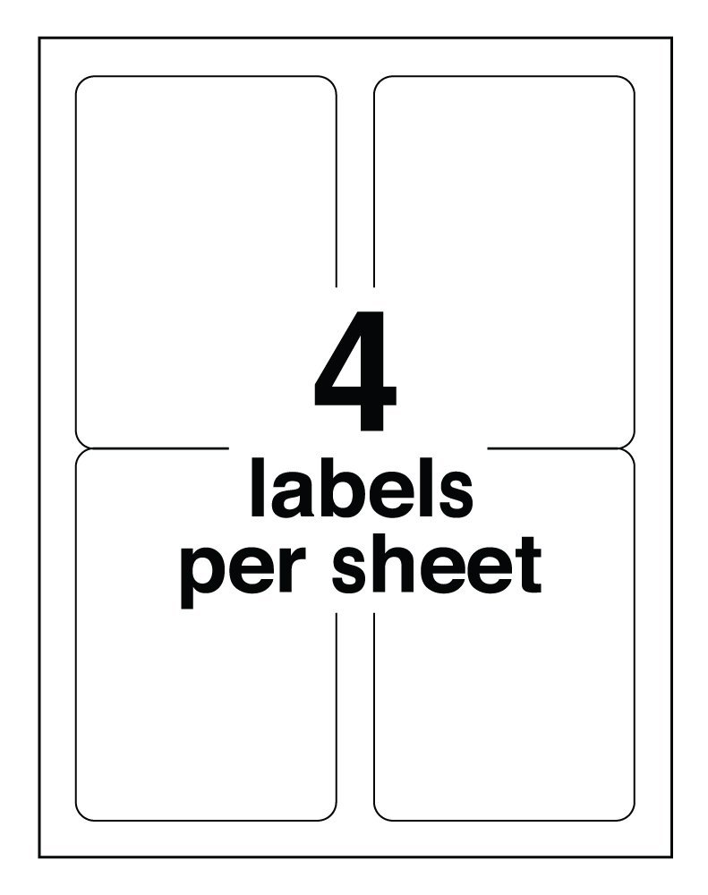 pro office 4 x 5 premium shipping labels protekgr. Black Bedroom Furniture Sets. Home Design Ideas
