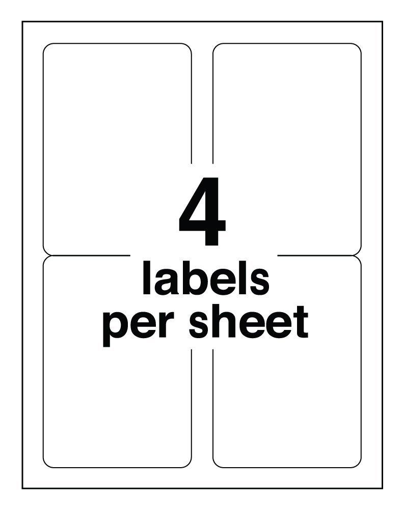 Pro Office 4 X 5 Premium Shipping Labels Protekgr