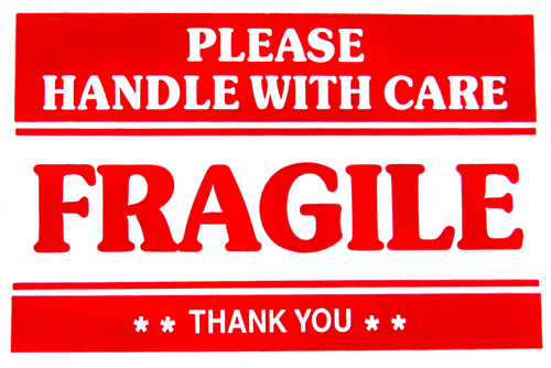 It's just a photo of Printable Fragile Label within postage